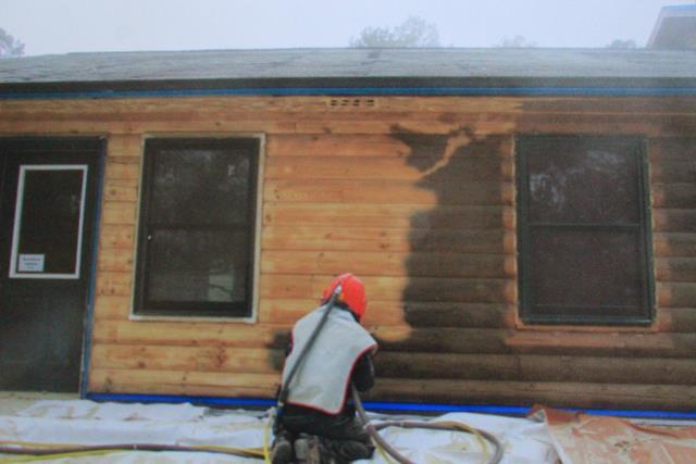 Staining Amp Repair Pine Ridge Rustic